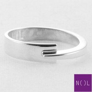 AG81127.5 NOL Zilveren ring