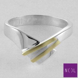 AG93128.7 NOL Zilveren ring