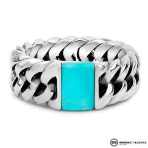 603TQ Buddha to Buddha Chain Stone Ring