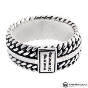 788 Buddha to Buddha Chain Texture Ring