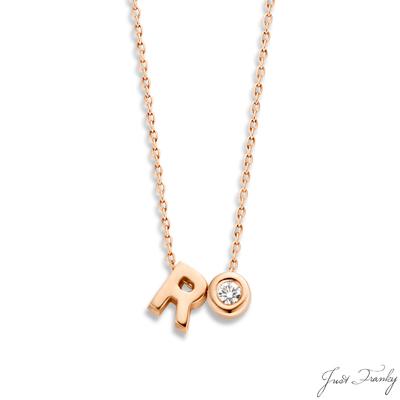 Just Franky 1 Capital 1 Diamond Collier