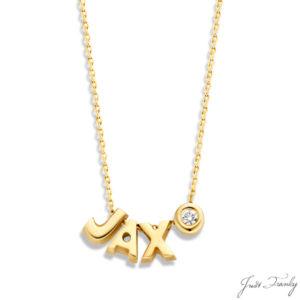 Just Franky 3 Capital 1 Diamond Collier