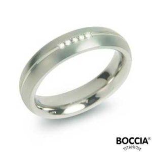 0130-03 Boccia Titanium Ring