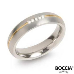 0130-04 Boccia Titanium Ring