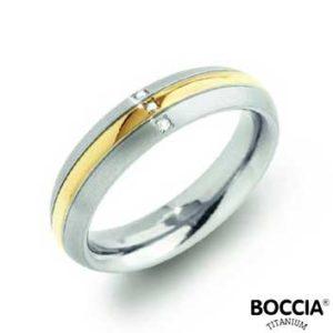 0131-04 Boccia Titanium Ring