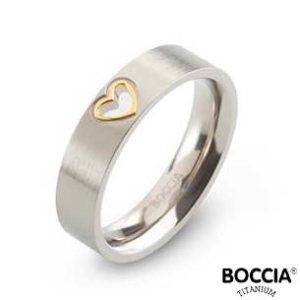 0143-02 Boccia Titanium Ring