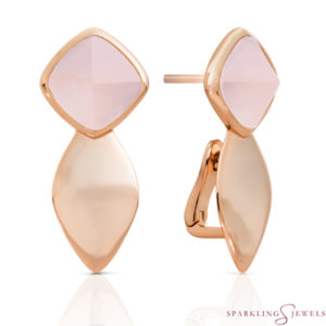 EAR05-G13 Sparkling Jewels Rozenkwarts