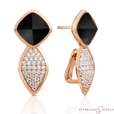 EAR06-G07 Sparkling Jewels Onyx