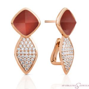 EAR06-G33 Sparkling Jewels Agaat