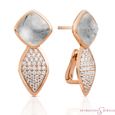 EAR06-G34 Sparkling Jewels Rutielkwarts