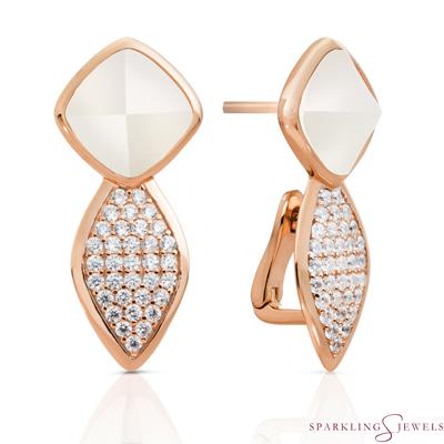 EAR06-P01 Sparkling Jewels Parelmoer
