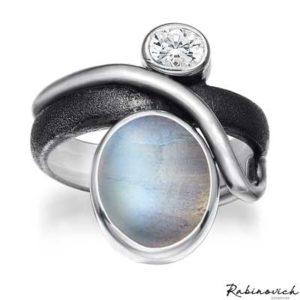 40803021 Rabinovich Ring Maansteen