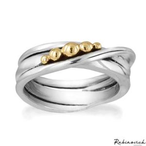 72403800 Rabinovich Ring Golden Bubbles
