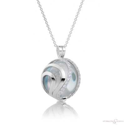 SP08 Sparkling Jewels Zilveren Pendant