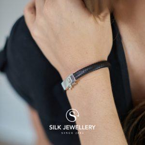 155BLK Silk armband