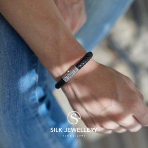 156BLK Silk armband