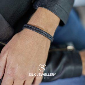 157BLK Silk armband