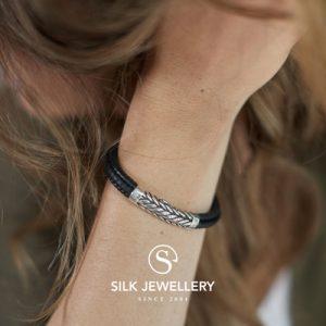 158BLK Silk armband