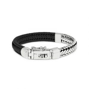 193BLK Silk armband