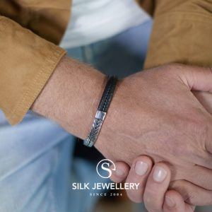 252BLK Silk armband