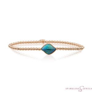 SB-RG-3MM-BSG18 Sparkling Jewels Armband