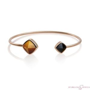 SBRG-BAN-SQ26 Sparkling Jewels Edge Bangle