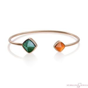 SBRG-BAN-SQ27 Sparkling Jewels Edge Bangle