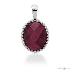 SP21-G39 Sparkling Jewels Pendant Rode Jade