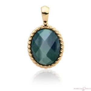 SPG21-G18 Sparkling Jewels Pendant Labradoriet