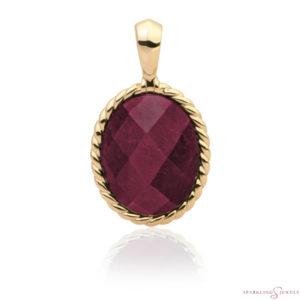 SPG21-G39 Sparkling Jewels Pendant Rode Jade