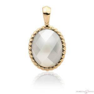 SPG21-P01 Sparkling Jewels Pendant Parelmoer