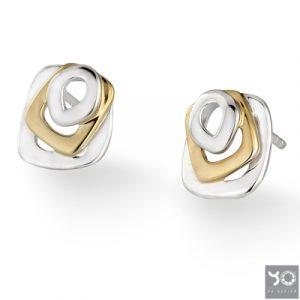 T0757 Golden Eye Yo Design Oorbellen