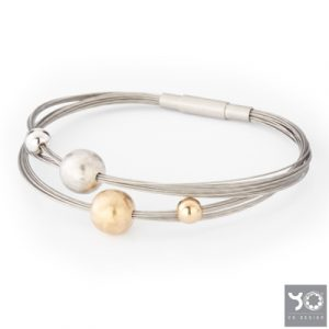 T0798 Frost Gold Yo Design Armband