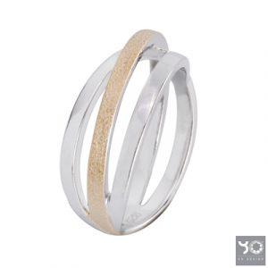 T0901 Subway Gold Yo Design Ring