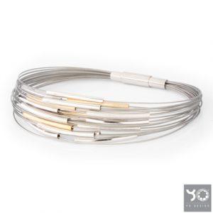 T0938 Infinity Gold Yo Design Armband