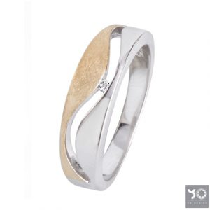 T0943 Frost Gold Yo Design Ring
