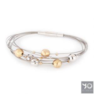 T0948 Venus Gold Yo Design Armband