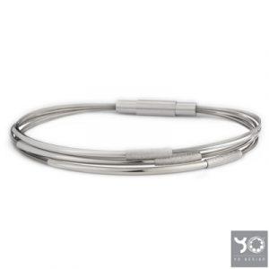 T1022 Jagan White Yo Design Armband