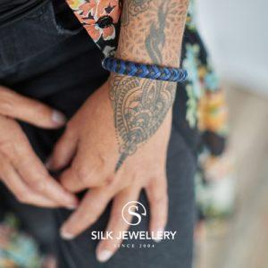 326BBU Silk armband