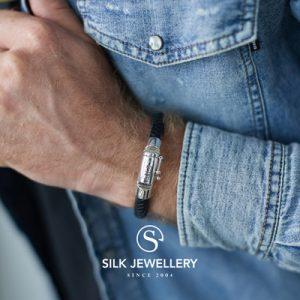 326BLK Silk armband