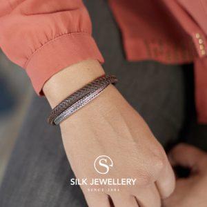 344BRN Silk armband