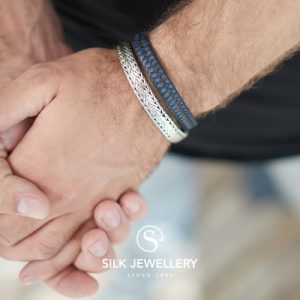 362BBU Silk armband