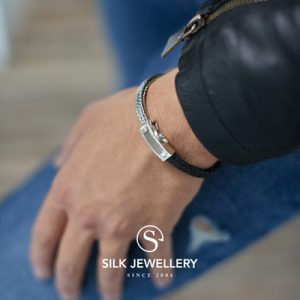 369BLK Silk armband