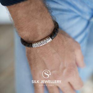 423BBR Silk armband