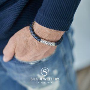 423BBU Silk armband