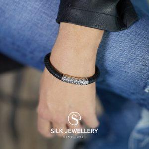 423BLK Silk armband