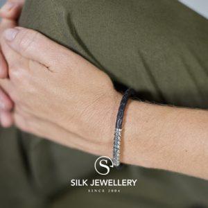 427BLK Silk armband