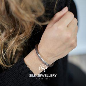 427BRN Silk armband