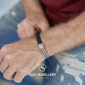 741BLK Silk armband
