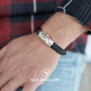 742BLK Silk armband